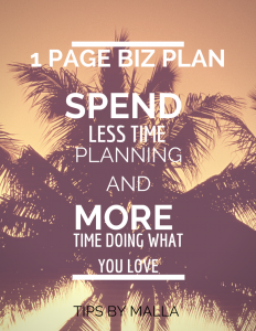 The 1 Page Biz Plan