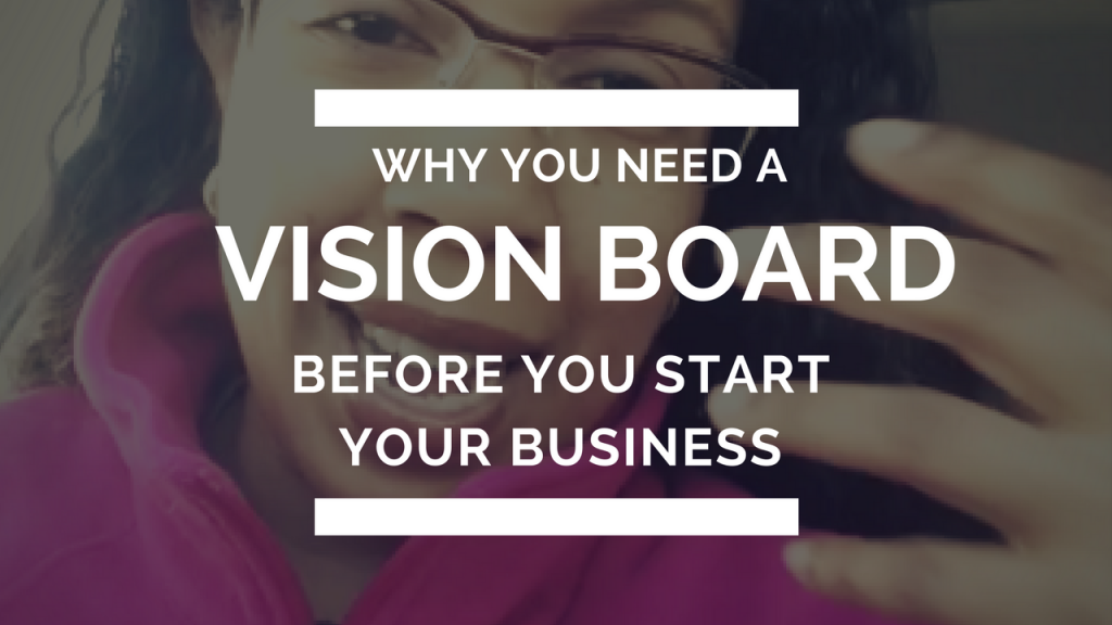 """Sure they are often seen as """"woo woo"""". But vision boards can add real value BEFORE you start your biz. Check out the video for tips why"""