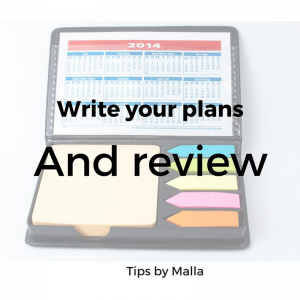 Write your plans and review