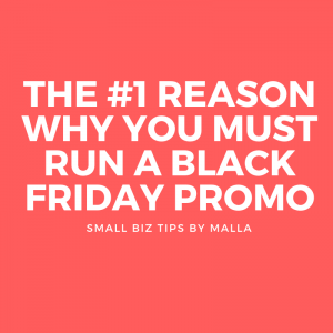 Don't worry about just sales for Black Friday. There is a bigger win that you can gain from offering a promotion.