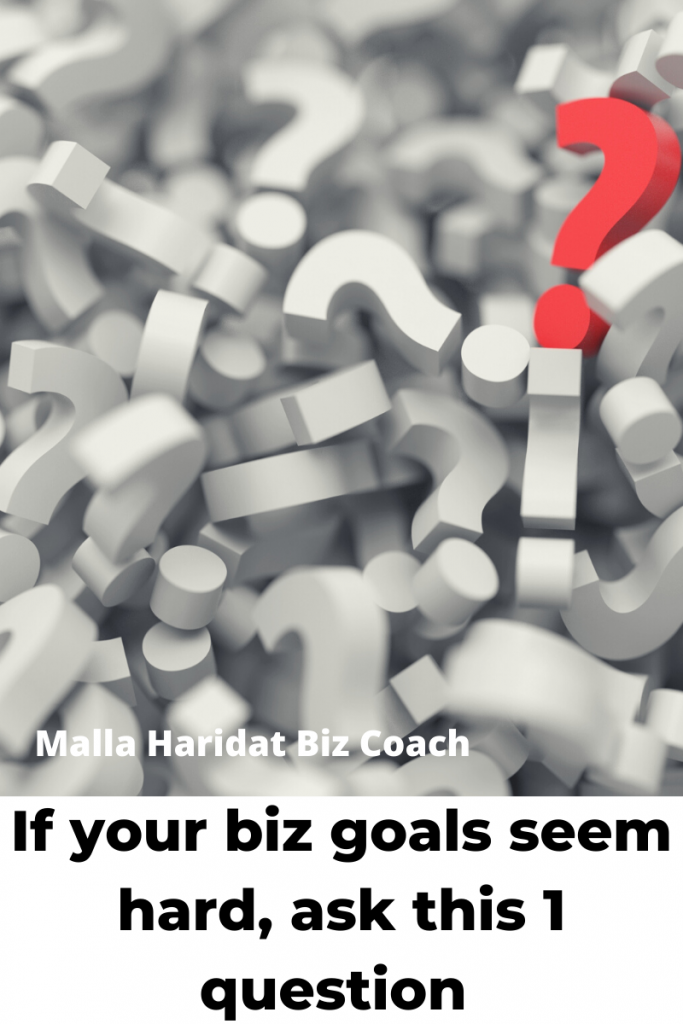 If you are asking this question deeply about your biz goals, you will start creating more solutions and profit
