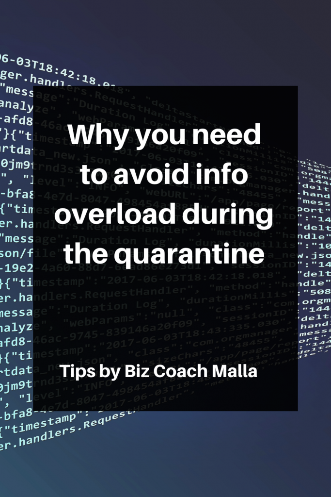 Why you need to avoid info overload during the quarantine